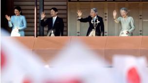 Mfalme Akihito 2 Januari 2014.