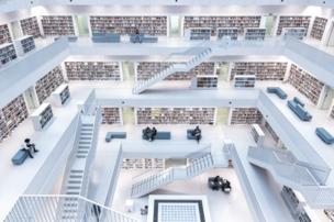 التصميم الحديث لمكتبة مدينة شتوتغارت