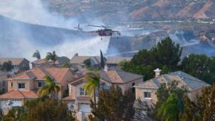 कैलिफ़ोर्निया के जंगलों में आग