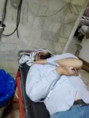 Rashid Azeem in hospital after the attack