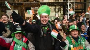 Ірландська діаспора у Нью-Йорку.