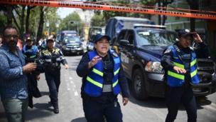 मेक्सिको सिटी में भूकंप