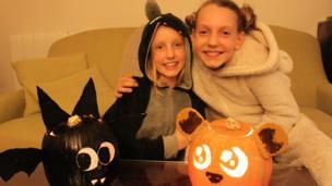 Edie and Mia's pumpkin