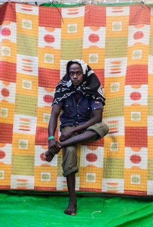 إبراهيم محمد من السودان وقضى شهرا في ليبيا وكان يريد الرحيل إلى إيطاليا.