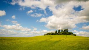 Wittenham Clumps in South Oxfordshire.