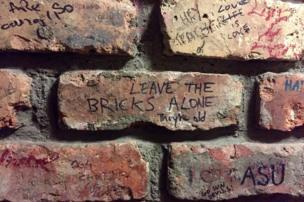 Bricks in a Dublin pub