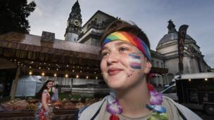 A woman at Pride in Cardiff