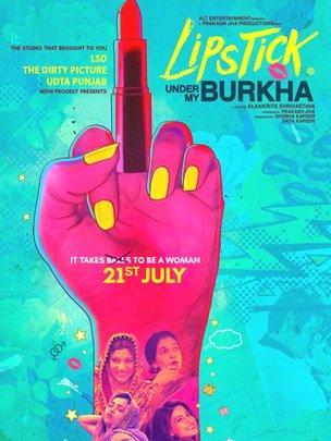 Poster for Lipstick Under My Burkha film