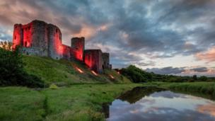 Carmarthenshire's Kidwelly Castle lit up in red to celebrate Wales' Euro 2016 success. Taken by Mathew Browne. If you would like your picture to be included, email it to newsonlinepictures@bbc.co.uk with your details and information about how you came to take the image. Your picture could feature in next week's gallery or on Twitter @BBCWalesNews, Facebook: BBC Wales News or Instagram: BBCWalesNews.