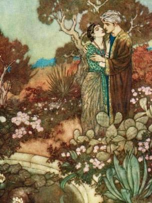 Illustration by Edmund Dulac for an edition of the Rubaiyat.