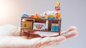 零食鐵架的微縮模型