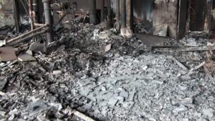 ภาพจากภายในแฟลตภายซึ่งอยู่ในอาคารเกรนเฟลล์ ทาวเวอร์ ทางตะวันตกของกรุงลอนดอน ที่ถูกเพลิงไหม้เมื่อ 14 มิ.ย.2017