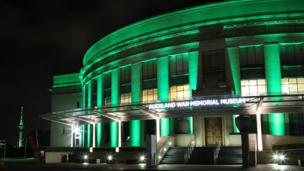 Auckland War Memorial Museum was lit up for the occasion