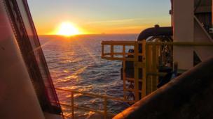 Sunrise over the North Sea