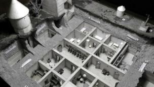 हिटलर के बंकर का मॉडल