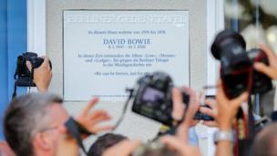 David Bowie plaque