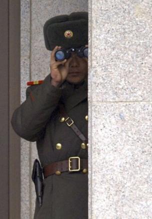 Un soldado de Corea del Norte