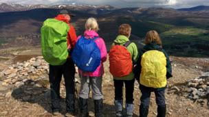 Hill walking group