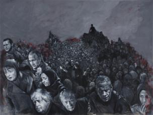 Refugiados huyendo