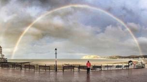 A rainbow over Llandudno