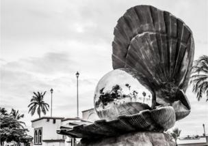 Escultura de una concha