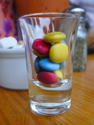 Sweets in a glass
