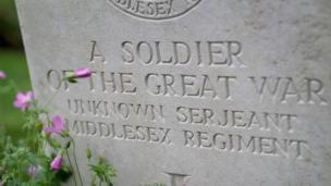 War grave at Thiepval