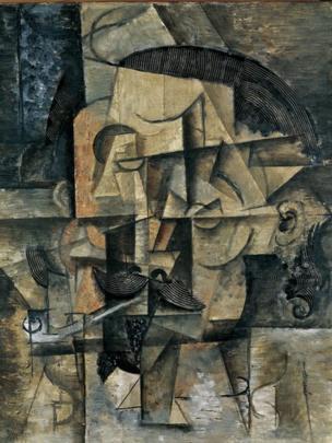 "Obra: ""El poeta"", óleo sobre lienzo, Pablo Picasso, 1912"