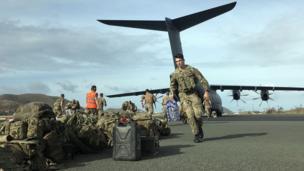 Royal Engineers and Marine Commandos on British Virgin Islands