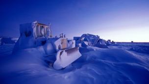 Heavy equipment at the Amundsen-Scott South Pole Station