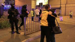 Aftermath of Manchester Arena explosion
