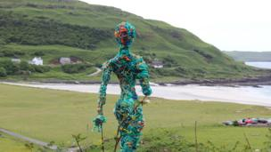 Art installation by Calgary Bay