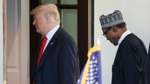 Shugaba Donald Trump da shugaba Muhammadu Buhari