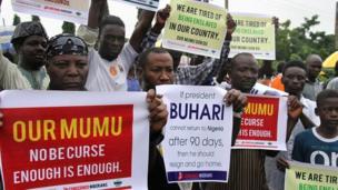 Masu zanga-zangar kiraye-kirayen Shugaba Muhammadu Buhari ya koma gida, ko kuma yi murabus a Abuja ranar Litinin.