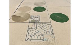 Pivot Irrigation Suburb, South of Yuma, Arizona, USA, 2011