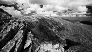 A striking view of the Carnedd mountains in Snowdonia