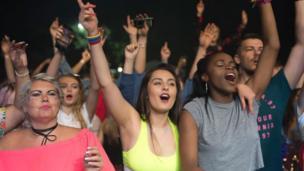 Crowds cheered on the Fun Lovin' Criminals on Friday night