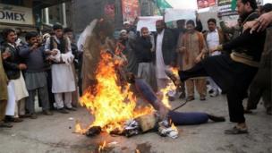 پشاور مظاہرہ