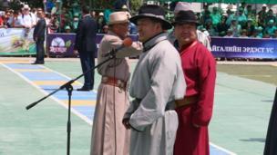 Монголиянын жаңы шайланган президенти Халтмаагийн Баттулга оюндардын ачылыш аземинде сөз сүйлөдү.
