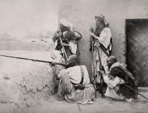 Afghanistan, Group of Affreedies from the Khyber Pass, 1860