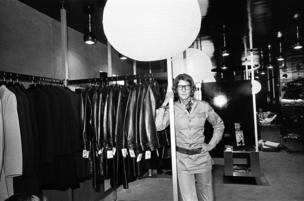 Fashion guru Yves St Laurent opened his Rive Gauche store in New Bond Street in 1969 (right)