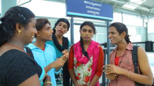 Transgender employees at the soon to be inaugurated Ambattukavu station