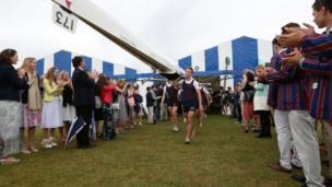 The Norwich School rowing team