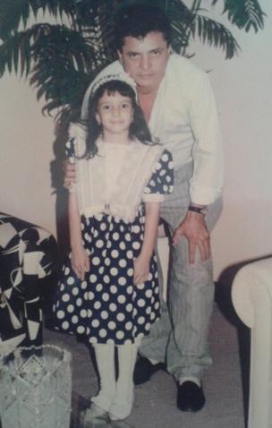 Diana Lopez com o pai