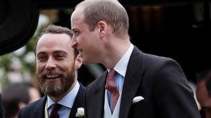 The Duke of Cambridge and James Middleton