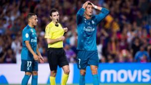 Ronaldo sent off