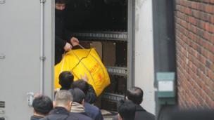 朴槿惠工作人員在凖備搬離總統府
