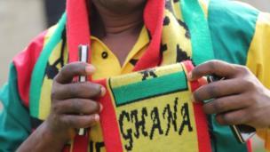 Les supporters ghanéens portent les couleurs du pays