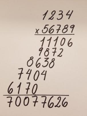 Multiplicación tradicional.