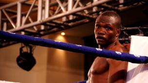 Mkenya Rayton Okwiri alinyakuwa ukanda wa Africa kitengo cha Welterweight alipomwangusha Mtazania Salehe Mkalekwa katika raundi ya tatu .
